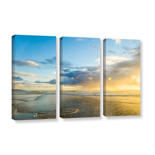 Andrew Lever's 'Calmness' 3-piece Gallery Wrapped Canvas Set