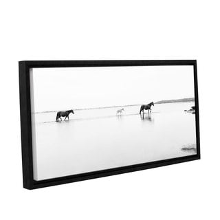 Andrew Lever's 'Three Horses' Gallery Wrapped Floater-framed Canvas