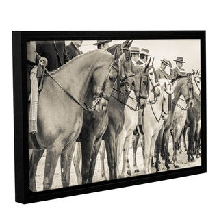 Andrew Lever's 'The Line Up ' Gallery Wrapped Floater-framed Canvas