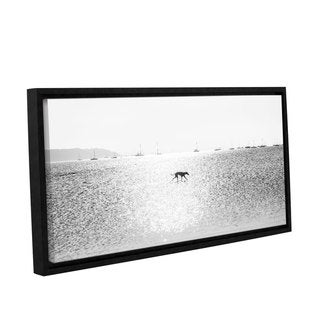 Andrew Lever's 'Greyhound' Gallery Wrapped Floater-framed Canvas