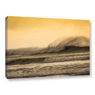 Andrew Lever's 'Waves against Yellow' Gallery Wrapped Canvas