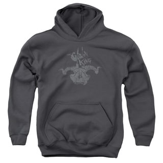 The Hobbit/Golin King Symbol Youth Pull-Over Hoodie in Charcoal
