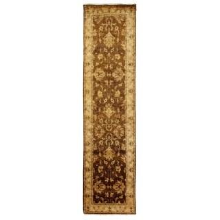 Ziegler Beige/ Ivory New Zealand Wool Runner Rug (2'6 x 12')