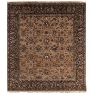 Agra Wheat/ Mocha New Zealand Wool Rug (9' x 10')