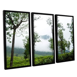 Andrew Lever's 'Forest Fog' 3-piece Floater Framed Canvas Set