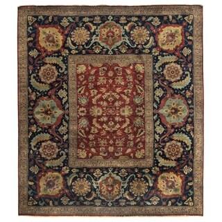 Tabriz Red/ Navy New Zealand Wool Rug (14' x 16')