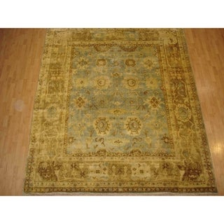 Turkish Oushak Beige New Zealand Wool Rug (8')