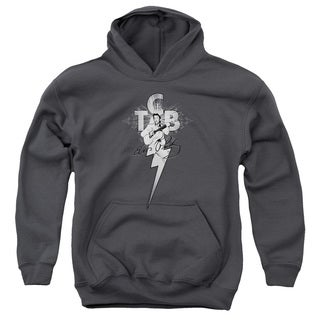 Elvis/Tcb Ornate Youth Pull-Over Hoodie in Charcoal