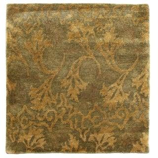 Metropolitan Blue Green New Zealand Wool Runner Rug (2'6 x 10')