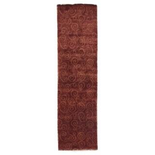 Metropolitan Rust/ Gold New Zealand Wool Runner Rug (2'7 x 8')