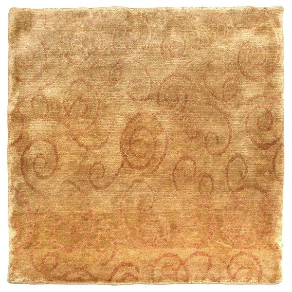 Exquisite Rugs Metropolitan Wheat New Zealand Wool Runner Rug - 2'6 x 12'