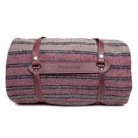Pendleton Yakima Hemrich Stripe Camp Blanket With Leather Carrier