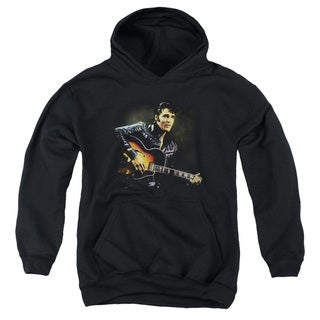 Elvis/1968 Youth Pull-Over Hoodie in Black