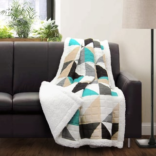 Lush Decor Abner Sherpa Throw