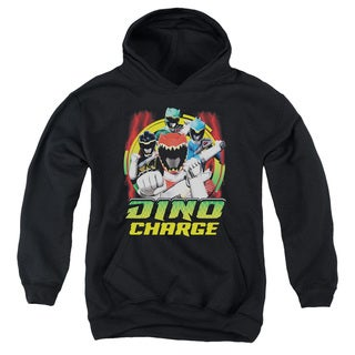 Power Rangers/Dino Lightning Youth Pull-Over Hoodie in Black