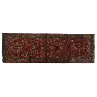 Exquisite Rugs Super Mashad Black / Cream New Zealand Wool Runner Rug (2'6 x 10' Runner) - 2'6 x 10'