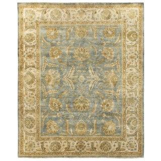 Exquisite Rugs Turkish Oushak Light Blue/ Ivory New Zealand Wool Runner Rug (2'6 x 8')