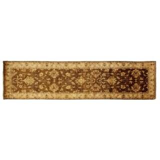 Exquisite Rugs Ziegler Beige / Ivory New Zealand Wool Runner Rug (2'6 x 8' Runner) - 2'6 x 8'