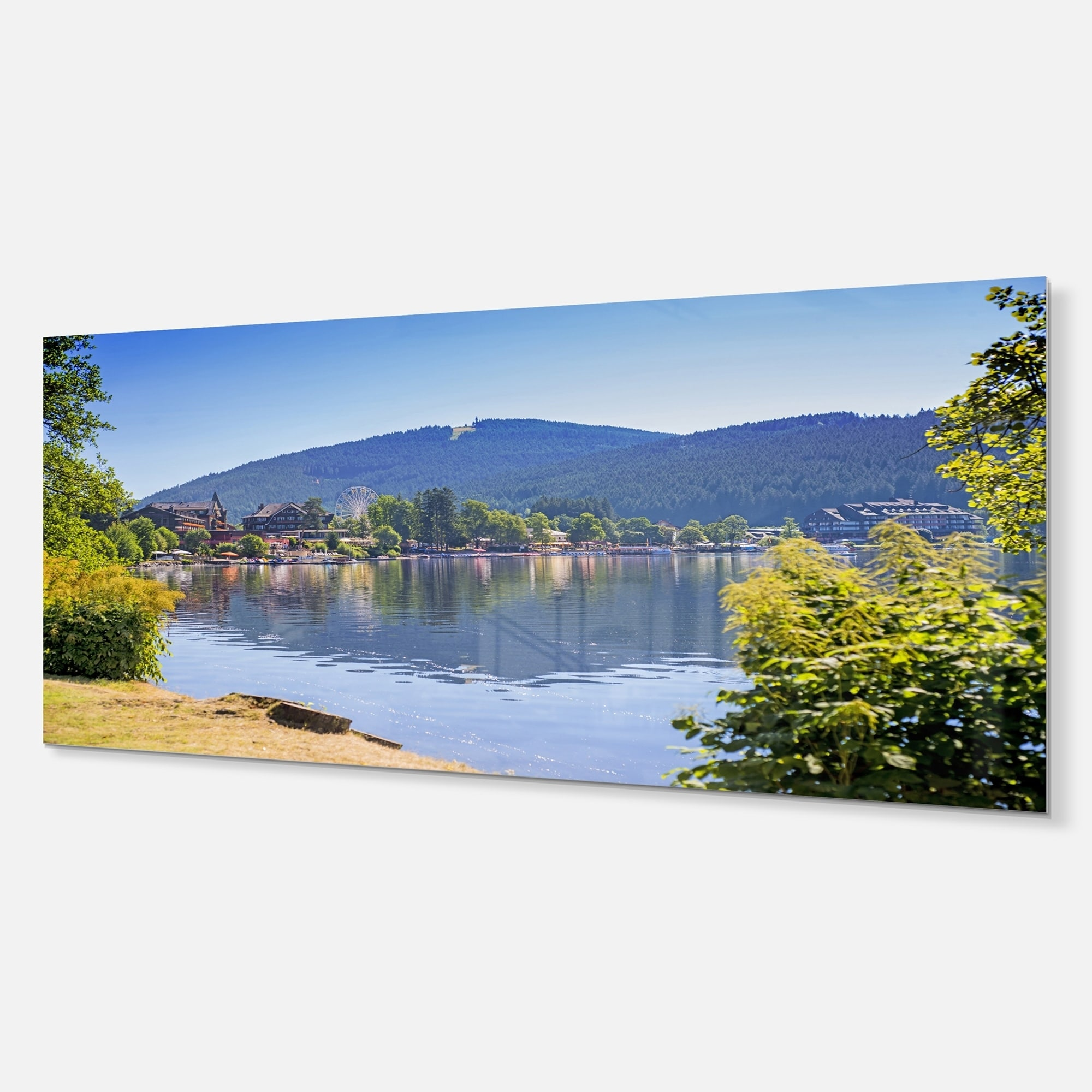 Shop Designart Lake Titisee Black Forest Germany Photo Metal Wall Art Overstock 11869627