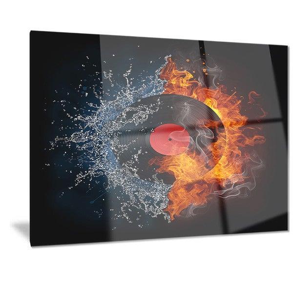 Shop Designart 'Record Abstract' Digital Art Metal Wall ...