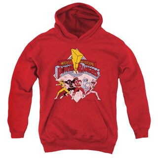Power Rangers/Retro Rangers Youth Pull-Over Hoodie in Red