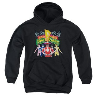 Power Rangers/Rangers Unite Youth Pull-Over Hoodie in Black