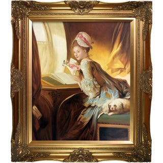 Jean Fragonard 'The Love Letter, 1770' Hand Painted Framed Canvas Art