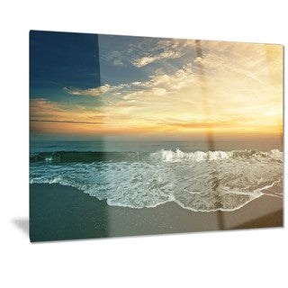 Designart 'Beach Panorama' Landscape Metal Wall Art