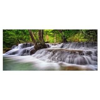 Designart 'Waterfall Huai Mae Kamin' Landscape Metal Wall Art