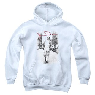 Dean/Street Distressed Youth Pull-Over Hoodie in White