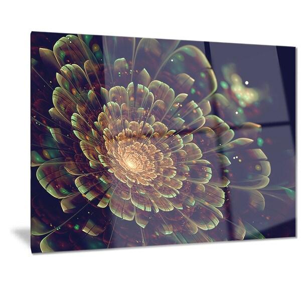 designart 39 orange metallic fractal flower 39 digital art. Black Bedroom Furniture Sets. Home Design Ideas