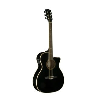 Eko Guitars 06217024 NXT Series Black Auditorium Cutaway Acoustic-Electric Guitar