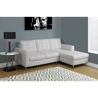 Bonded Leather White Sofa Lounger