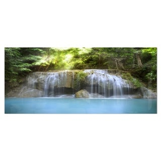 Designart 'Erawan Waterfall' Photography Metal Wall Art