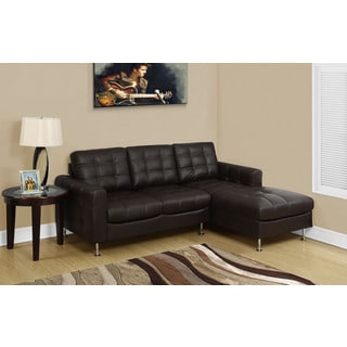 Monarch Dark Brown Bonded Leather Sofa Lounger