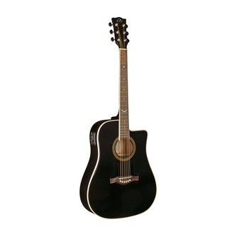 Eko Guitars 06217009 NXT Series Black Dreadnought Cutaway Acoustic Electric Guitar