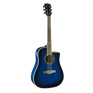 Eko Guitars 06217007 Blue Sunburst NXT Series Dreadnought Cutaway Acoustic-Electric Guitar