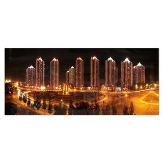 Designart 'Chinese Cities' Cityscape Photography Metal Wall Art