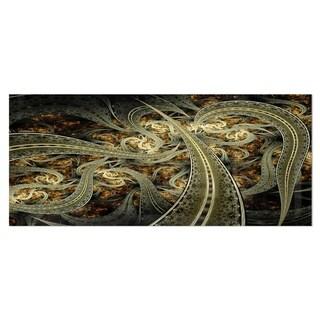 Designart 'Metallic Fabric Pattern' Digital Art Metal Wall Art
