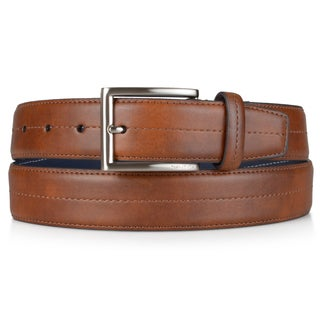Nautica Men's Handcrafted Faux Leather Belt