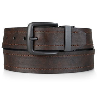 Dickies Men's Genuine Leather Reversible Belt