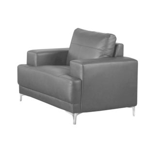 Monarch Black Bonded Leather Arm Chair
