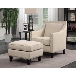 Picket House Emery Chair & Ottoman in Natural