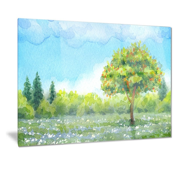 spring motif painting landscape - photo #5