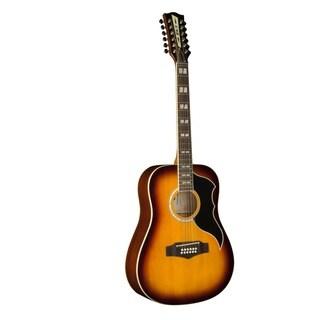Eko Guitars RANGER Series Honeyburst Vintage Reissue Dreadnought 12-string Acoustic Guitar
