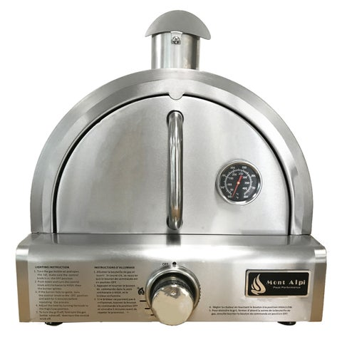 Mont Alpi Silver Stainless Steel Portable Pizza Oven