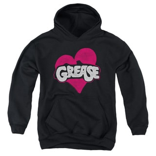 Grease/Heart Youth Pull-Over Hoodie in Black