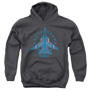 Top Gun/Maverick Youth Pull-Over Hoodie in Charcoal