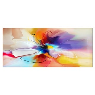 Designart 'Creative Flower in Multiple Colors' Abstract Floral Metal Wall Art