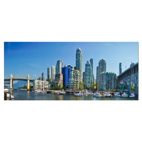 Designart 'Beautiful View of Vancouver' Cityscape Photo Metal Wall Art